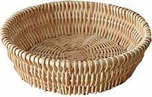Hemoton Wicker Fruit Basket Natural Wicker Bread