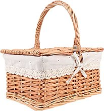 HEMOTON Woven Picnic Baskets Sundries Storage