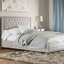 Hemsworth Crushed Velvet Upholstered Bed Frame