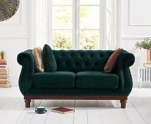Henbury Chesterfield Green Velvet 2 Seater Sofa