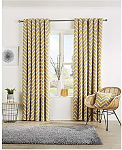 Hendem. Chevron Ring Top Curtains Cotton Rich