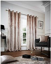 Hendem® SOLID VELVET Eyelet Curtains Pair Ring
