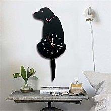 hengguang Silent Dog Wall Clock, Novelty Pendulum