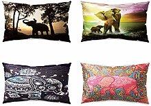 Hengjiang Animal Cushion Cover Cute Elephant