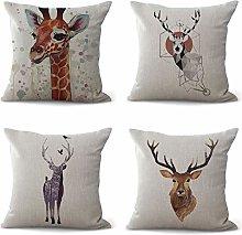 Hengjiang Animal Cushion Covers Cartoon Deer