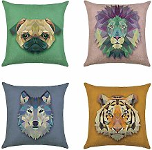 Hengjiang Cushion Cover Animal Double-sided Print