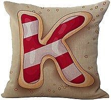 Hengjiang WEIANG English Alphabet Soft Pillowcase