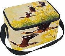 hengpai Autum Yellow Birds Flying Sky Lunch Box