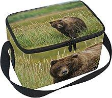hengpai Brown Bear Lunch Box Insulated Lunch Bag