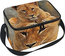 hengpai Brown Lion Lunch Box Insulated Lunch Bag