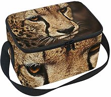 hengpai Cheetah Cute Animals Leopard Lunch Box