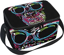 hengpai Colorful Chimp with Glasses Lunch Box