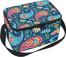 hengpai Colorful Paisley Lunch Box Insulated Lunch