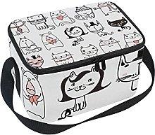 hengpai Cool Cute Funny White Cats Lunch Box