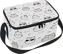 hengpai Cool Funny Cat Head Fish Lunch Box