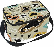 hengpai Cool Funny Dinosaurs Silhouette Lunch Box