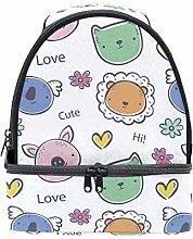 hengpai Cute Bear Pig Lunch Bag Dual Deck