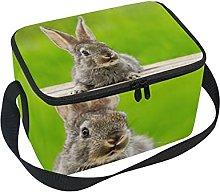hengpai Cute Fluffy Gray Rabbit Ears Natural Green