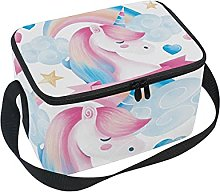 hengpai Cute Pink Unicorn Girl Lunch Box Insulated