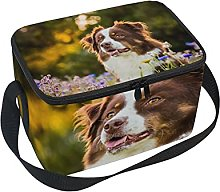 hengpai Dog Flower Lunch Box Insulated Lunch Bag