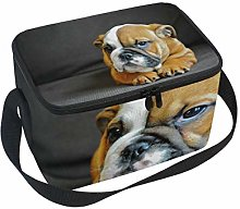 hengpai English Bulldog Puppy Lunch Box Insulated
