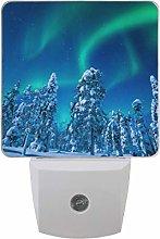 hengpai Finland Winter Snow Northern Lights LED