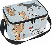 hengpai Funny Cute Yellow Dogs Lunch Box Insulated