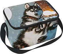 hengpai Huskies Dog Lunch Box Insulated Lunch Bag