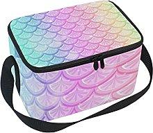 hengpai Pastel Rainbow Fish Scales Lunch Box