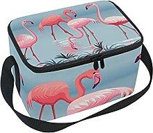hengpai Pink Flamingo Lake Water Lunch Box