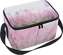 hengpai Purple Floral Lunch Box Insulated Lunch