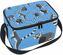 hengpai Ring Tailed Lemur Lunch Box Insulated