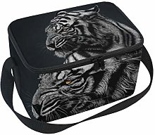 hengpai White Tiger Lunch Box Insulated Lunch Bag