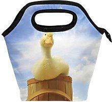 hengpai Yellow Duck Barrel Lunch Tote Bag