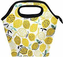 hengpai Yellow Lemon Lunch Tote Bag Insulated