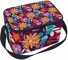 hengpai Yellow Pink Floral Colorful Lunch Box