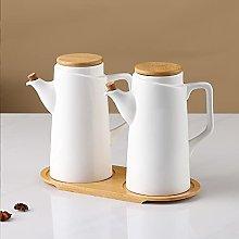 Hengqiyuan Soy Sauce Bottle White Small Ceramics