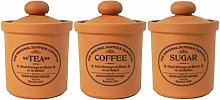 Henry Watson - Airtight Canister Set - Terracotta,