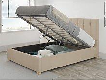Hepburn Ottoman Upholstered Bed, Kimiyo Linen,
