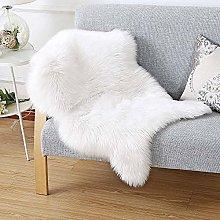 HEQUN Faux Fur Sheepskin Style Rug Faux Fleece