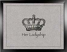 Her Ladyship Faux 4 Black: Quality Cushioned Bean