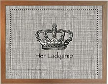 Her Ladyship Vintage Wood: Quality Cushioned Bean