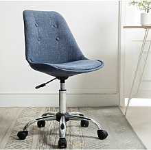 Hera Desk Chair Blue Elephant Upholstery Colour: