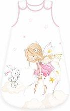 Herding Baby Sleeping Bag, Cotton, White/Pink, 70