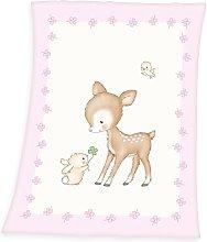Herding Fynn Baby Blanket, Deer Motif, 75 x 100