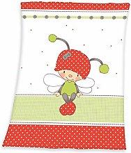 Herding Fynn Baby Blanket, Ladybug Luis Motif, 75
