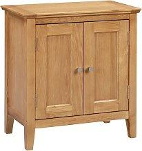 Hereford Oak Small Storage Cabinet in Light Oak