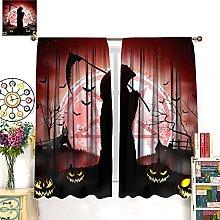 HERG Halloween Grim Reaper Holding Red Window
