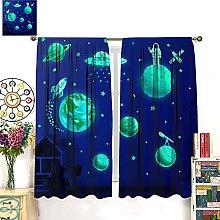 HERG Solar System for Kids Blackout Curtains