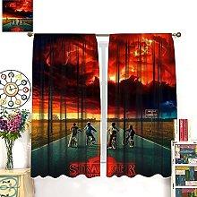 HERG Stranger Things 2 Red Window Curtain Curtain